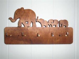 Wooden Elephant Key Holder - key tidy organiser wedding home engagement gift