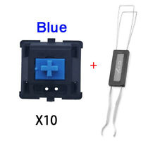 10PCS  Cherry MX Blue Switches Mechanical Keyboard Microswitch 3PIN