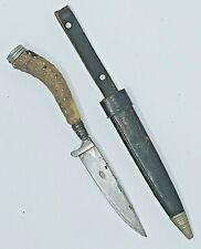 ANTON WINGEN KNIFE STAG SOLINGEN GERMANY HUNTER SKINNER STAINLESS SHEATH