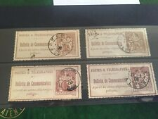 Algeria Postes & Telegraphes 4 x Bulletin de Communication seals used, superb