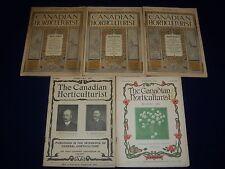 1902-1905 THE CANADIAN HORTICULTURIST MAGAZINE LOT OF 5 - NICE ILLUS. - II 6150