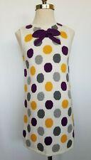 Janie & Jack Girls Dress Polka Dot Purple Gray Yellow Winter Whimsy Size 6 NWT