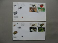 ISRAEL, 2x cover FDC 1994, insects beetle lady-bug