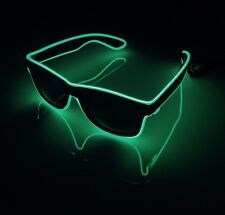 Green Neon Sunglasses EDM Festival Party Cool Funky LED Light Up Sun Glasses
