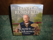 DONALD RUMSFELD  KNOWN AND UNKNOWN + NEW & SEALED + UNABRIDGED 24 CD AUDIOBOOK