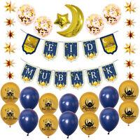 Eid Mubarak Ramadan Party Decor Latex Balloon Banner Background Festival Decor