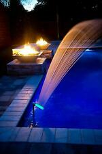 Waterfall Swimming Pool Fountain Spray Water Cools Warm Pool Water Temperatures
