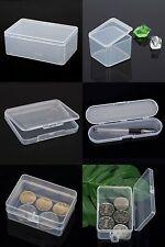 plastique transparent avec couvercle Boîte de rangement Collection Container