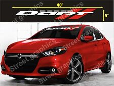 DODGE DART WINDSHIELD VINYL DECAL STICKER (WHITE AND RED COLORS))