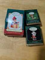 Lot of 3 Hallmark Keepsake Ornament Collectors Club Exclusives Holiday Christmas