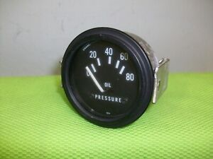 NOS STEWART WARNER Vintage Oil Pressure Gauge Gasser Rat Rod Mopar Ford GM