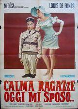 Le GENDARME SE MARIE Italian 2F movie poster 39x55 LOUIS DE FUNES 1968 RARE