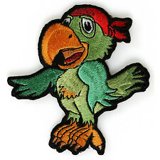Embroidered Cute Pirate Parrot Kids Sew or Iron on Patch