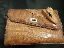 Vintage Alligator Purse Genuine needs strap