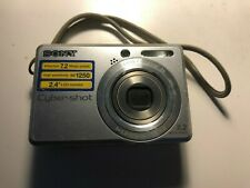 Sony Cyber-shot DSC-S730 7.2 MP Digital Camera w/ Cable - Silver, WORKING