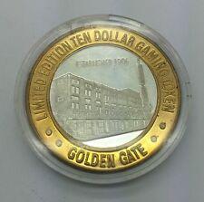 Vegas Casino Golden Gate 1906 House Token .999 Fine Silver
