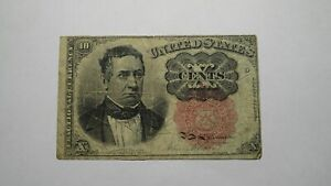 1874 $.10 Fifth Issue Fractional Currency Obsolete Bank Note Bill 5th Iss. USA
