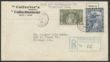 1934 #208-209 Cartier/Loyalists FDC, Collector's Magazine, Registered London Ont