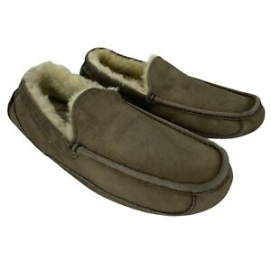 Ugg Ascot 5775 Mens 13 Brown Suede Leather Comfort Slippers Shearling Shoes
