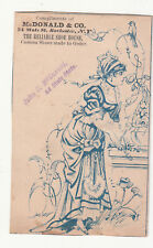 John D McDonald & Co Rochester NY Shoe House Smelling Flowers Vict Card c1880s