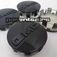 "(4) 83mm 3.25"" GMC style Center Caps Gloss Black 20"" 22"" 24"" wheels 14-17 Truck"