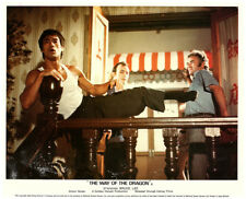 Way of the Dragon original lobby card rare Bruce Lee in vest delivering kick