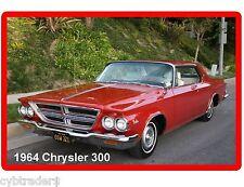 1964 Chrysler 300 Convertible Refrigerator / Tool Box  Magnet Man Cave Item