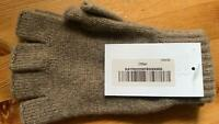 100% Cashmere Fingerless Gloves | Johnstons of Elgin | Made in Scotland | Otter