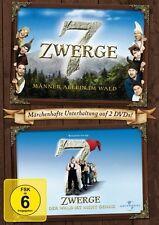 7 ZWERGE 1 & 2 - 2 DVD NEUWARE WAALKES,OTTO/HAGEN,COSMA SHIVA/HOENIG,HEINZ