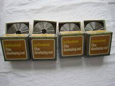 4 stainless steel film developing reels for 35mm film