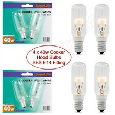4X Supalite 40W Cooker Hood Appliance Light Bulb 240v SES E14 Extractor Fan Lamp