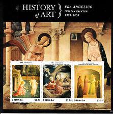 Grenada 2013 MNH History of Art Fra Angelico Noli Me Tangere 3v M/S Stamps