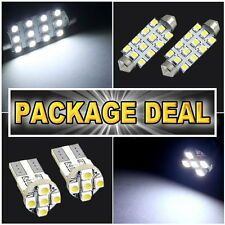 """6x White Led Lights For Map 1.72""""+ Dome 1.72"""" + License Plate Package Deal #B12"""