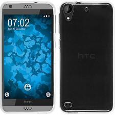 Silikon Hülle für HTC Desire 630 Crystal Clear transparent + 2 Schutzfolien