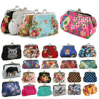 Women Retro Change Coin Purse Small Clutch Wallet Key Card Pouch Holder Handbag