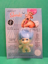 """VINTAGE  LUCKY SHNOOKS PENCIL TOP - 1 1/4"""" GP - NEW ON CARD - MINT - Rare"""