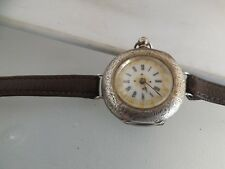 a fine antique silver 935 wrist converted enamelled dial pocket watch