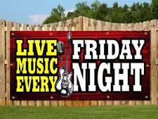 LIVE MUSIC NIGHT PUB CLUB BAR BANNERS PRINTED OUTDOOR SIGN BANNER