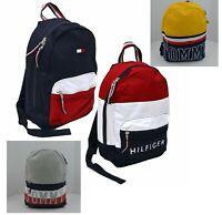 Tommy Hilfiger Backpack Canvas Book Bag School Travel Colorblock Unisex