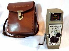 VINTAGE BELL & HOWELL TWO TWENTY 8 MM FILM WIND UP MOVIE CAMERA 1950'S RETRO
