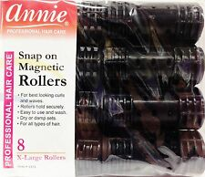 ANNIE SNAP ON MAGNETIC ROLLERS 8PCS X-LARGE ROLLERS #1231 1-1/8""