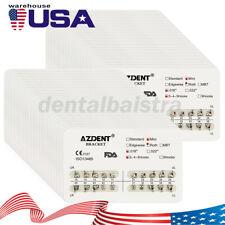 10x Usps Azdent Dental Orthodontic Metal Brackets Mini Roth Slot018 Hooks 3 4 5