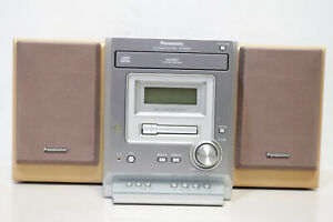Panasonic SA PM07 Mini CD Stereo System with Radio Cassette & Speakers -250