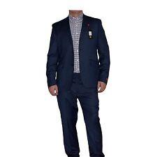 """Avvocato Del Diavolo da Uomo Due Bottoni Tuta Slim Fit Giacca Blu Scuro 42"""" Pantaloni 36"""" nuova con etichetta"""