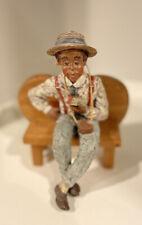 New listing Vintage 1992 Sarah's Attic Harpster Black Man figurine Signed #390/8000 Lmtd Ed