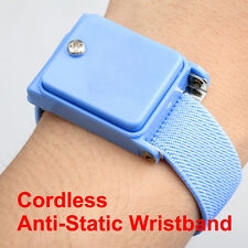 Cordless Wireless Anti Static ESD Discharge Cable Wristband Wrist Strap New Blue