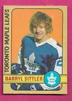 1972-73 OPC # 188 LEAFS DARRYL SITTLER  EX-MT CARD (INV# J0229)