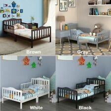 Platform Bed Frames for Kids Toddler Boys Girls Beds Headboard & Half Side Rails