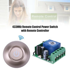 Switch 12V 1CH Relay Receiver Module + Kinetic Self-powered Round RF Transmitter