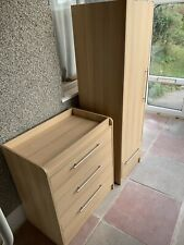 Nursery furniture set - Wardrobe and Chest Of Drawers With Changing Top